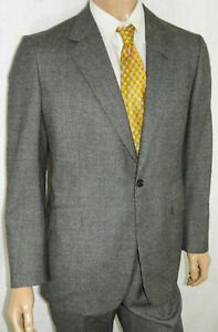 44R Brioni 2-Piece Suit - Men 44 Charcoal Check Fully Canvassed Wool 35x31