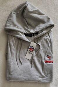 NFL Kansas City Chiefs Men's Hoodie Sweatshirt Illustrated SI Grey Size XL
