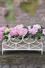 Jeanne d arc living Jardiniere Metall Weiß Lilie Shabby Vintage Nostalgie Garten