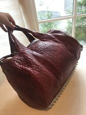 Alexander Wang Leather Burgundy Wine Rocco Duffle Bag