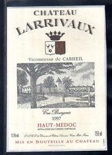 étiquette Château LARRIVAUX. 1997. HAUT-MEDOC  CRU Bourgeois