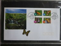 2003 AUSTRALIA NATURE OF AUSTRALIA RAINFORESTS SET 4 STAMPS FDC FIRST DAY COVER