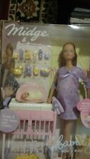 New Mattel Happy Family Pregnant Midge and Baby Barbie Doll 2002