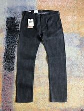 Lee 101 Rider Dry Selvage Denim Charcoal/Black  31/32 Slim Fit Made In Italy New