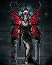Anne Stokes Angel Rose Fabric Art Cloth Poster 16inch x 13inch  Decor 03