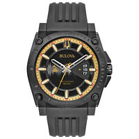 Bulova Grammy Edition Precisionist Men's Black Silicone Strap 47mm Watch 98B294