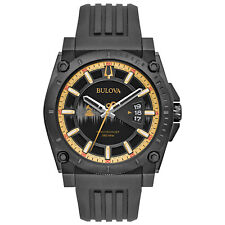Bulova Men's Quartz Precisionist Grammy Edition Gold Tone 46.5mm Watch 98B294