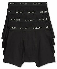 $55 ALFANI UNDERWEAR MEN'S BLACK CLASSIC FIT COTTON BOXER BRIEFS 4-PACK SIZE S