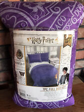 Harry Potter Purple & White Hogwarts Crest Bed in a Bag Bedding Set Full Comfnew