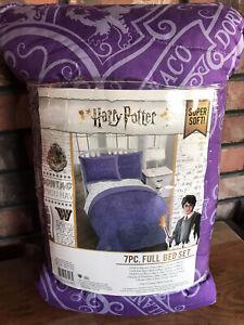 HARRY POTTER Purple Comforter Bedding Set 7PC Full Sz, Sheets, Sham, Pillowcases