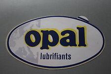 PQ Ancien autocollant voiture rallye course  OPAL lubrifiants 220*127 mm