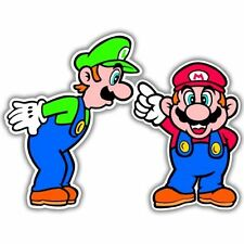 "Super Mario Luigi Video Game Arcade vynil car sticker   3"""
