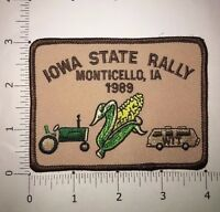 Iowa State Rally Patch  - Monticello, IA 1989