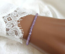 Handgefertigte Echtschmuck-Armbänder mit Amethyst gefädeltem Stil