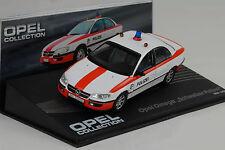 1994 - 1998 Opel Omega suizo policía 1:43 Ixo Altaya Collection
