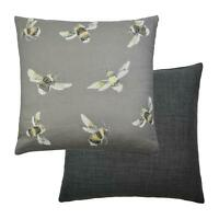 Filled Designer Voyage Maison Lorient Decor Slate Grey Bees Reversible Cushion