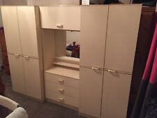 Bedroom Wardrobes and Dresser in Cream. Very Good Condition.
