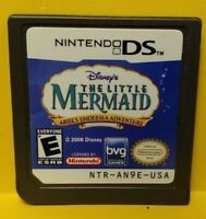 Disney's The Little Mermaid - Nintendo DS DS Lite 3DS 2DS Game Authentic