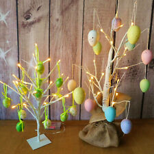 White Light Up Easter Egg Tree Shop Retail Display Egg Hunt Party Decorations