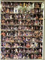 1993 Classic Draft Picks Basketball Uncut Gold Trading Card Sheet Shaq Webber RC