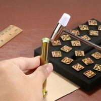 26pcs Steel Printing Punch Alphabet Letter Stamp Set Metal Leather Craft Tools