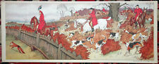HARRY ELIOTT Print Lithograph EQUESTRIAN HORSES FOXHUNTING HUNTING Paris nd d