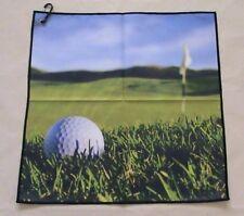 """Digital Print Microfiber Suede Golf Towel 16""""x16""""-Field- Generic"""