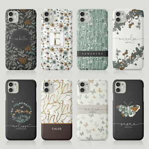 Tirita Personalised Case for iPhone 11 12 7 8 SE XR Nature Floral Butterfly Art