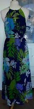 Stunning Colourful Fully Lined PER UNA Maxi Dress Size 10R in VGC