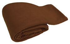 Brown Luxury Warm Soft Large 180cm x 254cm Fleece Sofa Couch Bed Blanket Throw