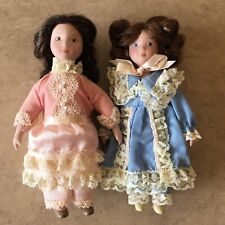 American Girl Samantha's Clara and Nellie's Lydia Porcelain Dolls