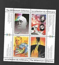 pk55783:Stamps-Canada #1825 Millenium Humanitarians 4x46 ct Souvenir Sheet-MNH