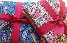 "102 Paisley Parade pre cut charm pack 5"" squares 100% cotton fabric quilt"