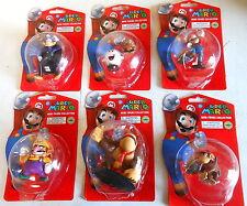 Nintendo Super Mario Mini Figure set Series 4  all 6 including Rare Waluigi NEW
