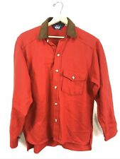 Vintage Woolrich Mens Medium Shirt Wool Blend Red Hunting Elbow Patches