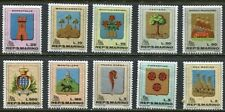 SAN MARINO 1968 COATS OF ARMS MINT NEVER HINGED COMPLETE SET OF 10 STAMPS!