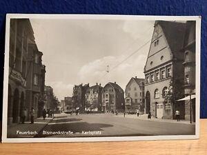 Alte Postkarte Ansichtskarte Stuttgart / Feuerbach vor 1945, Gelaufen