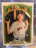 2021 Topps Heritage RC Bobby Dalbec Real One Auto On Card Rookie Card Red Sox