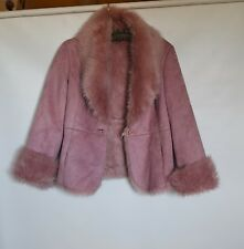 NWOT FI Pink Faux Fur Womens Jacket Coat Size L