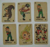 Vintage 1940's PINOCCHIO & BAMBI Miniature Replacement Card Game Walt Disney WDP