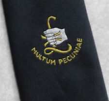 MULTUM PECUNIAE CLUB ASSOCIATION TIE VINTAGE 1970s CORPORATE POUND STERLING