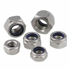 A2 A4 Stainless Steel Nylon Insert Lock Nut 304/316/201 Nylock Hex Nuts DIN985