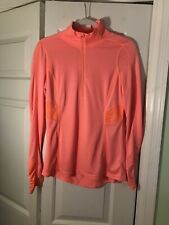 Neon Pink Danskin Now Semi Fitted Long Sleeve Shirt Size Small
