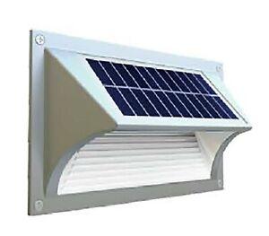 Solar Fence Wall Lights Step Path Deck Garden Warm Light Dusk till Dawn