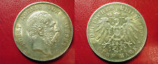 Rare 1901 E Saxony (Germany) Large silver 5 Mark, NICE