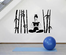 Vinyl Wall Decal Meditation Room Cane Zen Yoga Center Decor Stickers (ig4791)