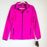 New Balance Fleece Jacket Womens M Pink Full Zip Elastic Cuff Brand New w/ Tag