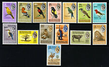 BECHANALAND PROTECTORATE QE II 1961 Birds & Pictorial Set SG 168 to SG 181 MINT