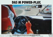BMW E30 M3 1989 DTM BMW Motorsport Power Play Large promo poster Soper Ravaglia