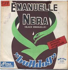 "BULLDOG - Emanuelle nera - VINYL 7"" 45 ITALY 1975 VG+ COVER VG-  CONDITION"